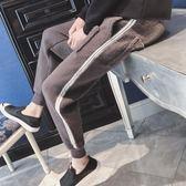 褲子男韓版潮流2018新款冬季羊羔絨束腳哈倫褲加絨加厚運動休閑褲【聖誕交換禮物】