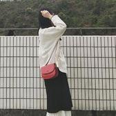 斜背包 斜背包斜背包包女2019最新版時尚半圓馬鞍包百搭ins單肩鏈條 全館免運