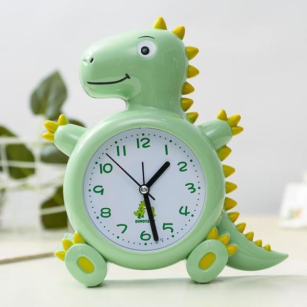 兒童可愛卡通個性恐龍男孩鬧鐘學生家用大聲時鐘創意小朋友鬧鐘表 1995生活雜貨