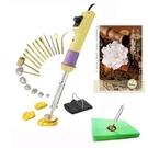 燙花工具組-含17個頭+燙墊, 送燙花專書(隨機)一本.