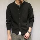 《澤米》馬切達日系秋裝純色開衫薄外套 韓版潮流休閒長袖毛衣 復古修身針織衫外套