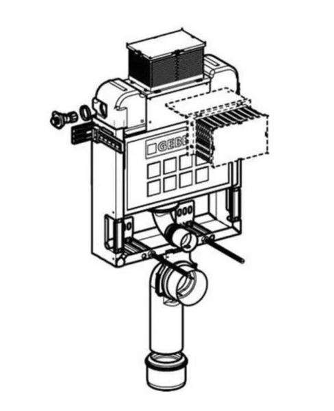 【麗室衛浴】瑞士原裝 GEBERIT 檯面式懸吊馬桶專用埋壁式水箱 110.251.00.1 磚牆式用
