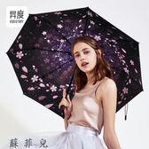 太陽傘遮陽防紫外線女超輕小折疊晴雨傘兩用防曬迷你
