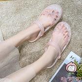 涼鞋女夏季果凍洞洞鞋拖鞋韓版時尚甜美學生沙灘鞋潮【桃可可服飾】