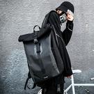 男士騎行背包新款潮流休閒時尚運動戶外大容量學生書包雙肩包「時尚彩紅屋」
