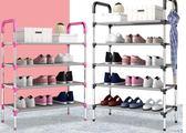 鞋架多層簡易家用防塵組裝布藝經濟型寢室宿舍小鞋架子多功能鞋櫃 卡布奇诺HM