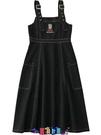 牛仔洋裝 短袖洋裝背帶牛仔連身裙2021春夏新款女裝韓版卡通刺繡流行高腰百搭減齡潮 寶貝計畫