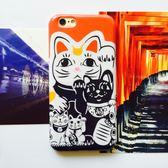~SZ ~iPhone 7 8 日系和風招財祈福開運招財貓iPhone 7 8 plus 手機殼iPhone 6s plus iPhone 6 6s 矽膠套