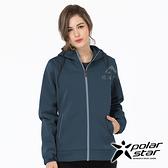 PolarStar 女 防風Soft Shell外套『深藍』P19202 戶外│休閒│登山│露營│機能衣│保暖外套│連帽外套