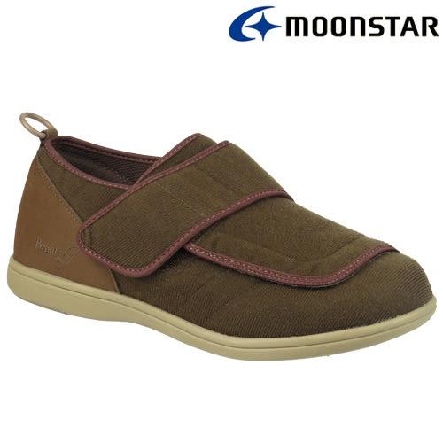 日本【MOONSTAR】Pastel 403健康照護介護鞋 - 咖啡(4E超寬楦)