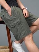 夏季中年男士爸爸裝短褲七分褲純棉寬鬆中老年人休閒五分褲外穿衩 印象家品