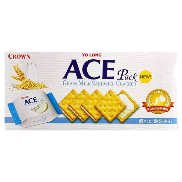 ACE 優龍 五穀牛奶夾心餅乾 128g/盒◆德瑞健康家◆