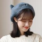 可愛日系軟妹針織貝雷帽女秋冬季韓版學生文藝百搭潮ins毛線帽子 蘿莉新品