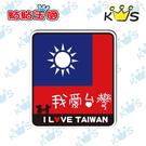 【防水貼紙】國旗我愛台灣 # 壁貼 防水貼紙 汽機車貼紙4.7cm x 5.3cm