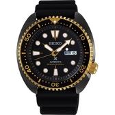 【台南 時代鐘錶 SEIKO】精工 Prospex 兩百米專業潛水機械錶 SRPD46J1@4R36-07L0K 橡膠錶帶 黑金 45mm