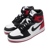 Nike Wmns Air Jordan 1 High OG Satin Black Toe 黑 紅 喬丹 女鞋 運動鞋【PUMP306】 CD0461-016