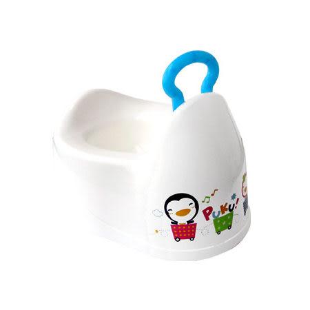 【奇買親子購物網】藍色企鵝 PUKU Petit 簡易便器