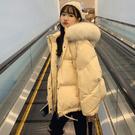 VK精品服飾 韓國學院風素色短款大毛領單品外套