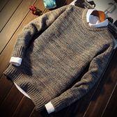 毛衣 新款男士圓領純色休閑學生針織衫韓版上衣