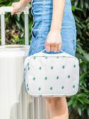 防水化妝包大容量多功能收納袋韓國簡約小號便攜旅化妝品行收納包  檸檬衣舍