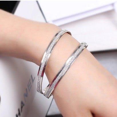 ►磨砂玫瑰金手鐲手環 韓版飾品禮物【B3076】