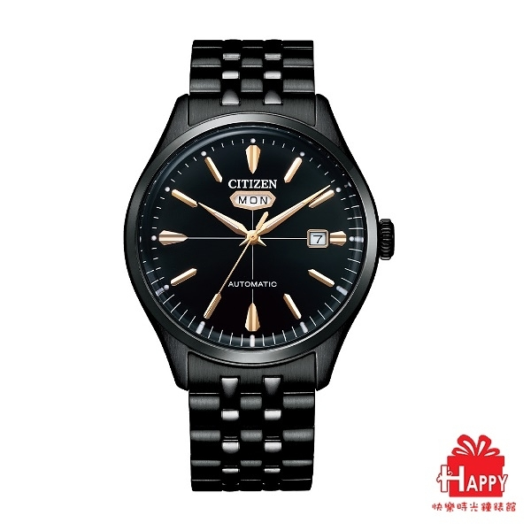 ◆CITIZEN◆ 星辰 新上市 經典日期 星期顯示機械腕錶 NH8395-77E 黑面