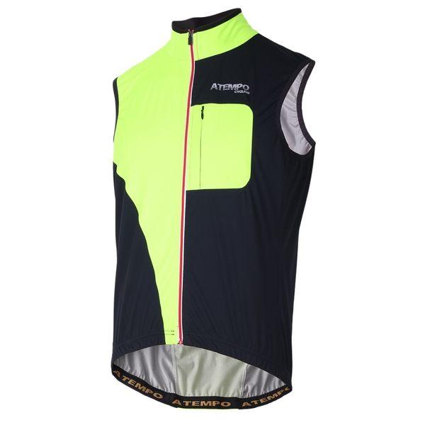 【ATEMPO】反光防水背心 螢光黃黑 男款 OWR風衣夾克背心系列 夜跑夜騎公路車必備