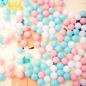 5.5cm馬卡龍小清新海洋球加厚彈力波波球玩具兒童泡泡球環保 【八折搶購】