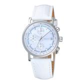 DKNY 高雅女伶三眼時尚腕錶-白