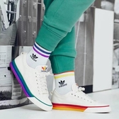 IMPACT Adidas Nizza Pride Shoes White 白 彩虹 小白鞋 男女 三葉草 EF2319