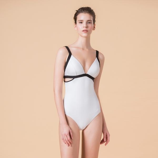 LeRêveParis |AIRise AIRise 鏤腰空氣美型連身泳裝|-珊瑚白