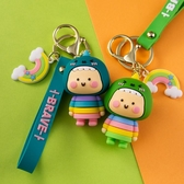 小恐龍鑰匙扣掛件書包掛飾創意個性汽車鍊圈環情侶可愛男女鎖匙扣 夏洛特