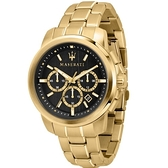 【MASERATI TIME】瑪莎拉蒂/ACTIVE POLO三眼計時腕錶 R8873621013