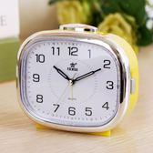 霸王音樂小鬧鐘夜燈床頭鐘創意學生兒童懶人鐘錶時尚臥室靜音台鐘