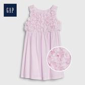 Gap 女幼童 立體花卉裝飾洋裝 539828-淺丁香紫
