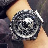 POLICE義大利國際品牌街頭龐克顝顱頭造型限量精裝腕錶15530SKS-SET1原廠公司貨