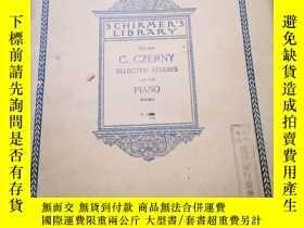 二手書博民逛書店SCHIRMER S罕見LIBRARY :Vol.994 C.CZERNY SELECTED STUDIES FO
