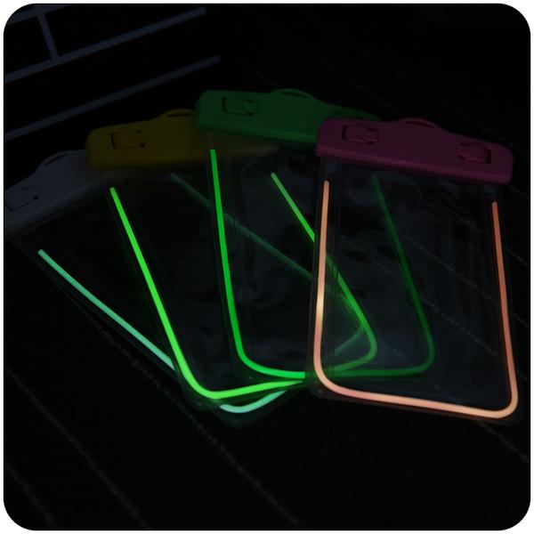 King*Shop~夜光手機防水袋潛水温泉華為三星小米蘋果 HTC 6plus 6s通用游泳防水套