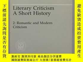 二手書博民逛書店Literary罕見Criticism A Short History, Vol. 2Y255562 Will