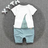2018夏季韓版男童夏裝1-4歲寶寶T恤短褲