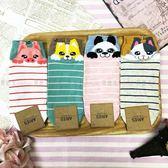 【KP】韓國 22-26cm 條紋 可愛動物 小豬 柴犬 熊貓 貓咪 成人襪 直版襪 襪子 DTT10000695