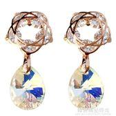 奧地利水晶銀針耳釘女氣質韓國個性簡約百搭耳墜ins耳環少女耳飾