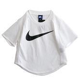 Nike AS W NSW TOP CROP SWSH MSH  短袖上衣 876654100 女 健身 透氣 運動 休閒 新款 流行