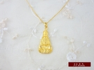 9999純金 黃金 觀音佛祖 墜子 墜飾 項鍊 送精緻皮繩項鍊