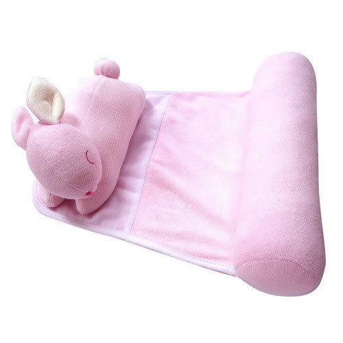 【奇買親子購物網】WTO小兔子造型側睡枕(水藍/粉紅)