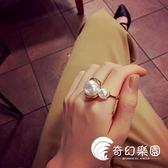 食指戒指女小众设计日韩潮人学生珍珠简约百搭韩国冬欧美指环网红-奇幻樂園