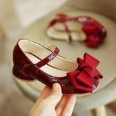 女童皮鞋正韓公主鞋女孩小高跟鞋兒童單鞋大童 茱莉亞嚴選