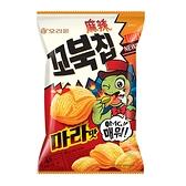 好麗友烏龜玉米脆片-麻辣味80G【愛買】