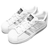 adidas 休閒鞋 Superstar 白 銀 經典球鞋 銀標 基本款 運動鞋 女鞋【ACS】 AQ3091