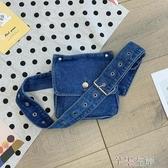 牛仔包小包包女潮韓版個性牛仔布胸包ins時尚休閒斜背包女腰包 7月熱賣